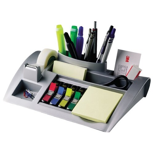 Computer Post: 3M Desktop Organiser Large Silver
