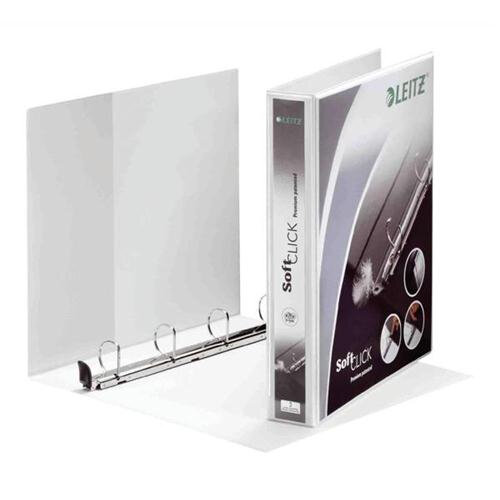 Leitz Softclick Presentation Ring Binder A4 White 40mm