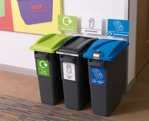 Ecosort Recycling System Maxi Bin 70l Capacity Anthracite