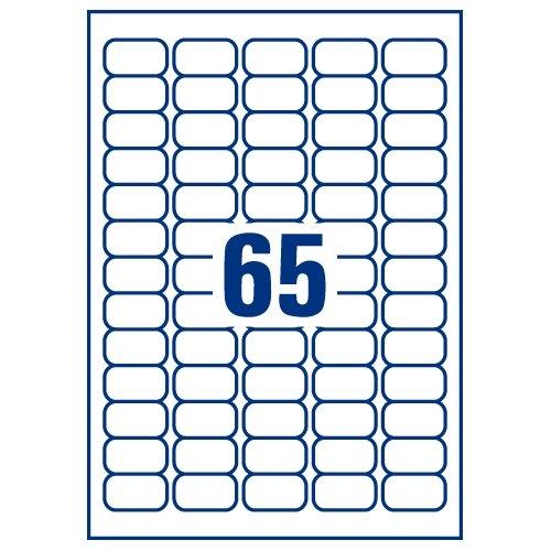 Avery J8651-100 Mini Labels Inkjet 65 Per Sheet 38.1 X 21
