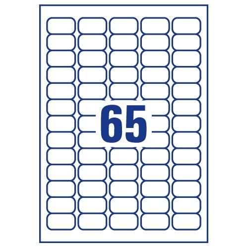 avery j8551 25 clear mini labels inkjet 65 per sheet 38 1 x 21 2mm