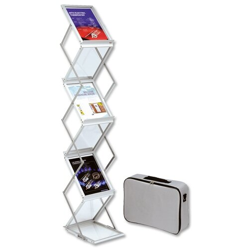 Exhibition Stand Carry Cases : Deflecto a folding display stand with carry case double