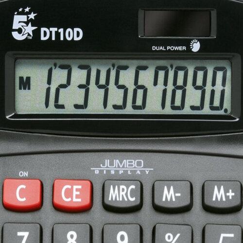 DT10D 5 Star Calculator Desktop Battery//Solar-power 10 Digit 3 Key Memory