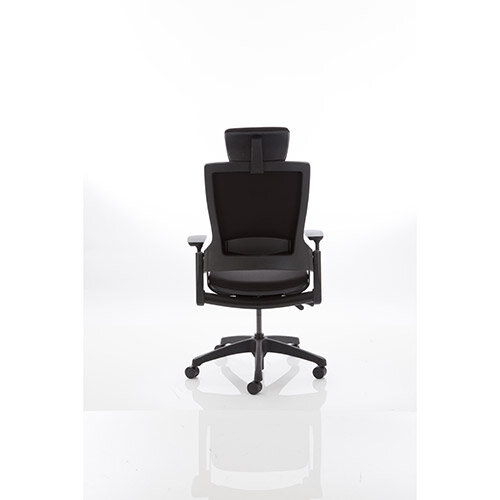 Molet Black Frame Black Fabric Office Chair ...