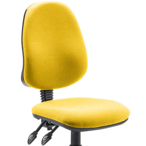 Eclipse II Lever Task Operator Chair Bespoke Colour Seat Sunset