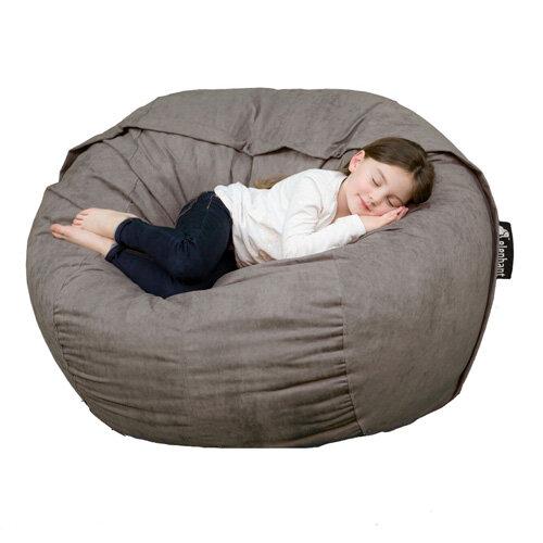 Pleasant Elephant Kumo Round Bean Bag H800Xd1000Mm Smoke Grey Ibusinesslaw Wood Chair Design Ideas Ibusinesslaworg