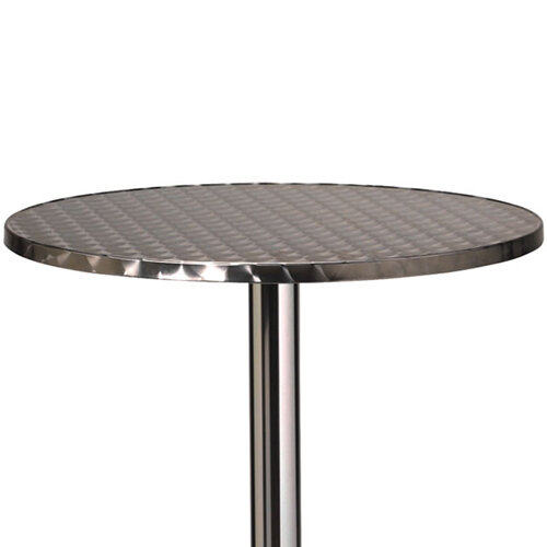 round outdoor metal table. Tall Aluminium 600mm Diameter Round Outdoor Cafe \u0026 Bistro Table Metal