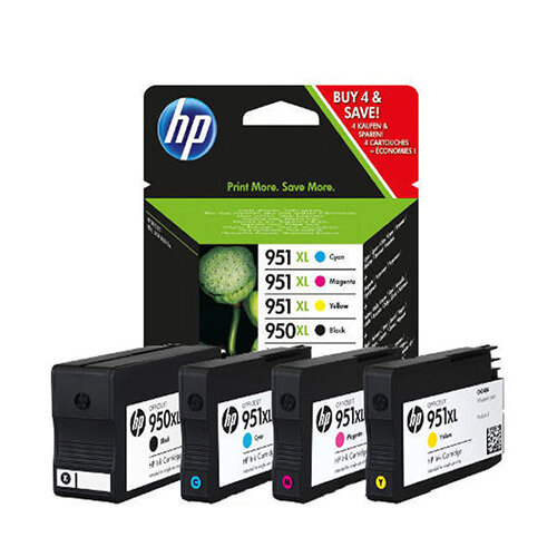 hp 950xl 951xl 4 colour high capacity ink cartridges c2p43ae. Black Bedroom Furniture Sets. Home Design Ideas