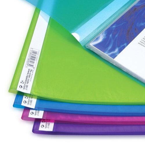 Soft Cover 20 Pockets A4 Blue Rapesco Presentation Display Book