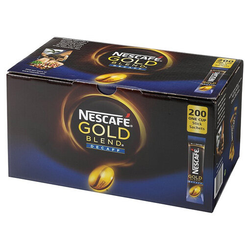 Nescafe Gold Blend Decaffeinated One Cup Sticks Instant