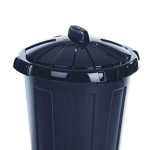 Dustbin 80 Litre Black - Heavy duty dustbin - Comes with tight fitting,  removable lid - Made from waterproof, wipe clean plastic - Suitable for  both