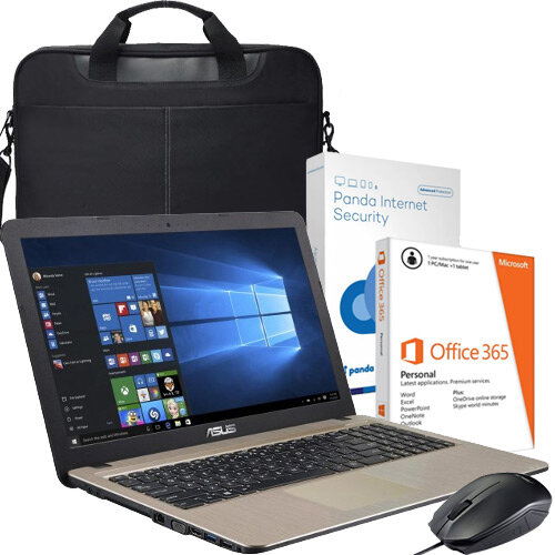 ASUS Laptop Bundle · 15 6 inch Display · 1TB Storage · 4GB RAM Memory ·  Windows 10 · Office 365 · Antivirus · Bag · Mouse