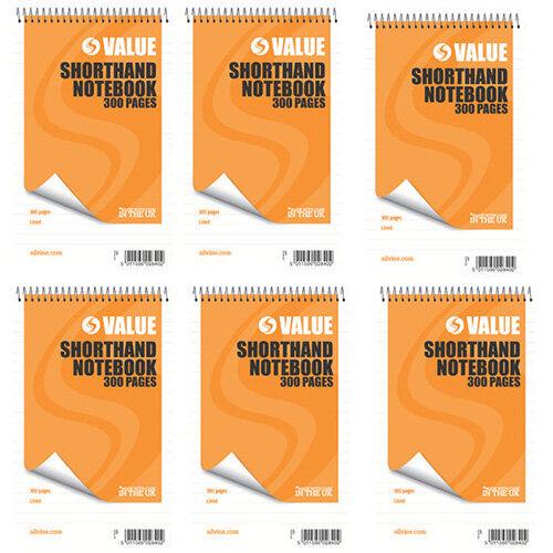 Silvine Spiral wirebound Shorthand Notebook 127x203mm 200 Leaf  Ruled Feint