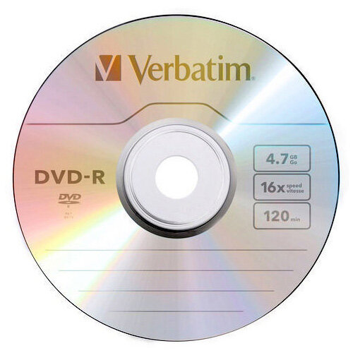 photograph about Verbatim Dvd R Printable identified as Verbatim DVD+R Inkjet Printable Spindle Pack of 50 43512