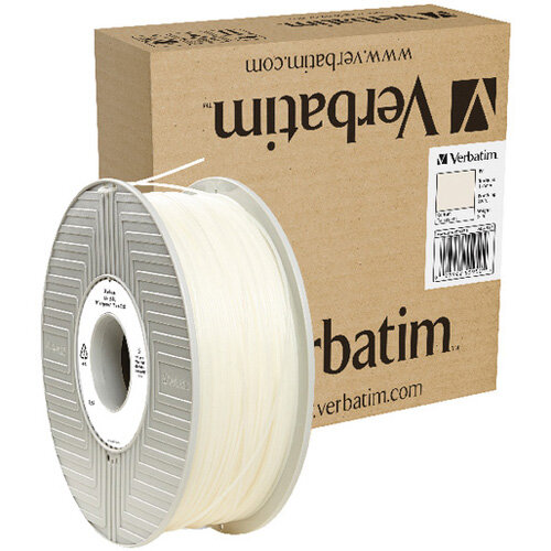 Verbatim Polypropylene 3D Filament 1.75mm 0.5kg Reel Natural 55950