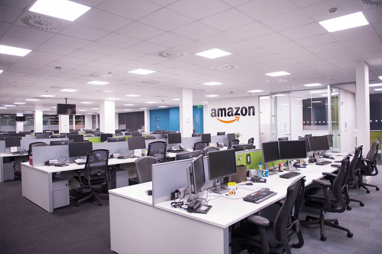 Amazon Phase 2 Open Plan Office Bench Desking Project By