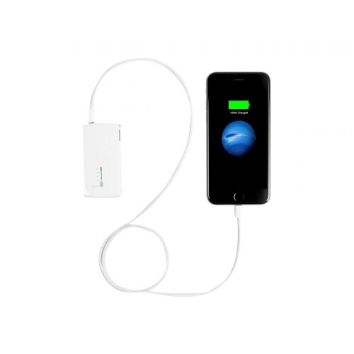 Targus 2-in-1 USB Wall Charger & Power Bank - Power bank / power adapter -  2100 mAh (USB) - white - Australia, United Kingdom, United States, Europe