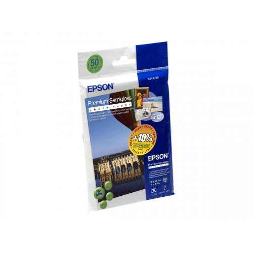 Epson Premium Semigloss Photo Paper - Semi-glossy - 100 x 150 mm - 251 g/m²  - 50 sheet(s) photo paper - for Expression Home HD XP-15000