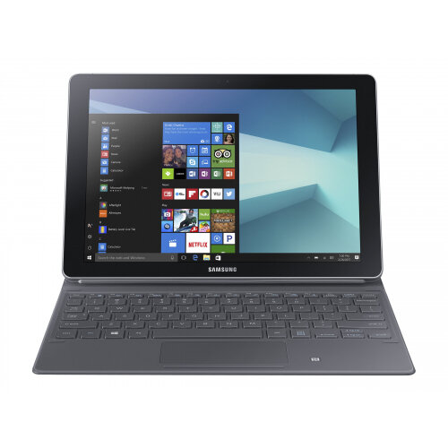 Samsung Galaxy Book - Tablet - with detachable keyboard - Core m3 7Y30 / 1  GHz - Windows 10 Home - 4 GB RAM - 64 GB eMMC - 10 6