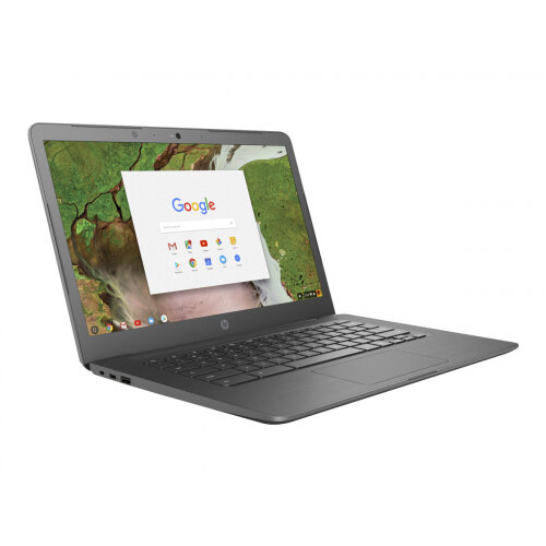 HP Chromebook 14 G5 Laptop - Celeron N3350 / 1 1 GHz - Google Chrome OS 64  - 4 GB RAM - 32 GB eMMC - 14