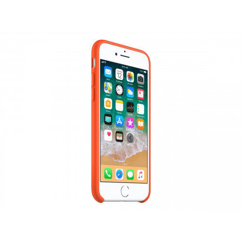 Apple - Back cover for mobile phone - silicone - spicy orange - for iPhone 7 5988c17c806
