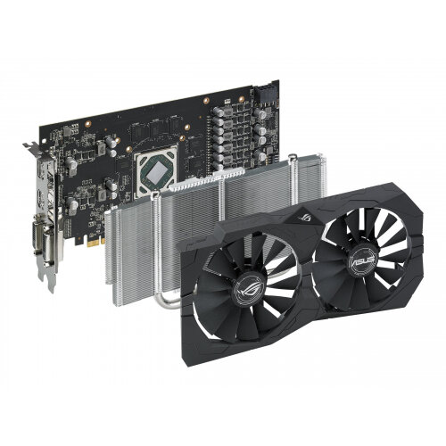 ASUS ROG-STRIX-RX570-O4G-GAMING - Graphics card - Radeon RX 570 - 4 GB  GDDR5 - PCIe 3 0 x16 - 2 x DVI, HDMI, DisplayPort