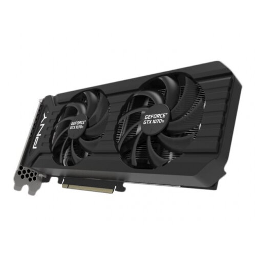 PNY GeForce GTX 1070 Ti Twin Fan - Graphics card - GF GTX 1070 Ti - 8 GB  GDDR5 - PCIe 3 0 x16 - DVI, HDMI, DisplayPort