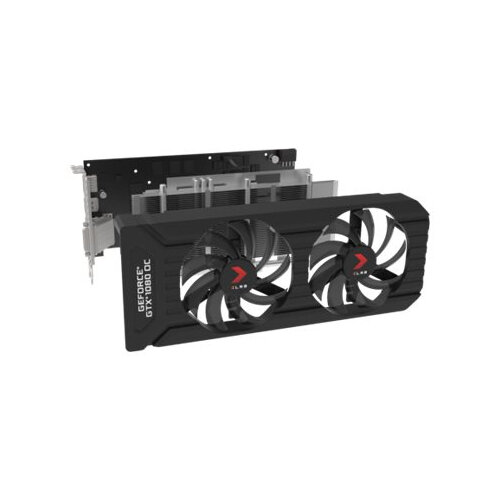 PNY XLR8 GeForce GTX 1080 OC GAMING Twin Fan - Graphics card - GF GTX 1080  - 8 GB GDDR5X - PCIe 3 0 x16 - DVI, HDMI, 3 x DisplayPort