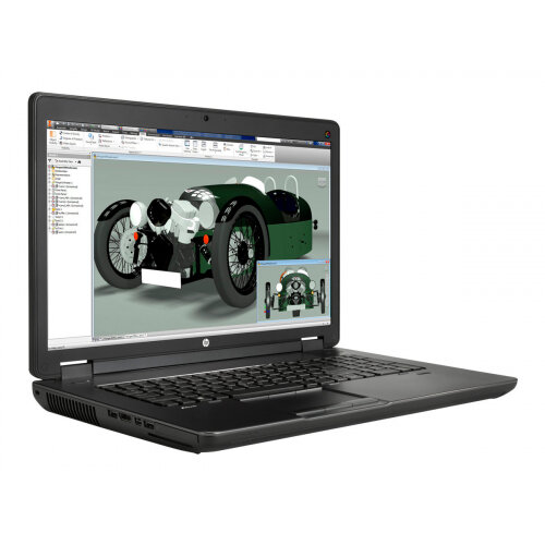 HP ZBook 17 G2 Mobile Workstation Laptop - Core i7 4710MQ / 2 5 GHz - Win 7  Pro 64-bit (includes Win 8 1 Pro Licence) - 8 GB RAM - 256 GB SSD HP Z