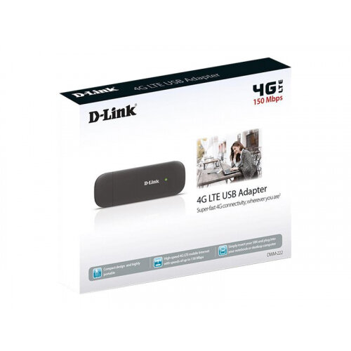 D-Link DWM-222 - Wireless cellular modem - 4G LTE - USB 2 0 - 150 Mbps