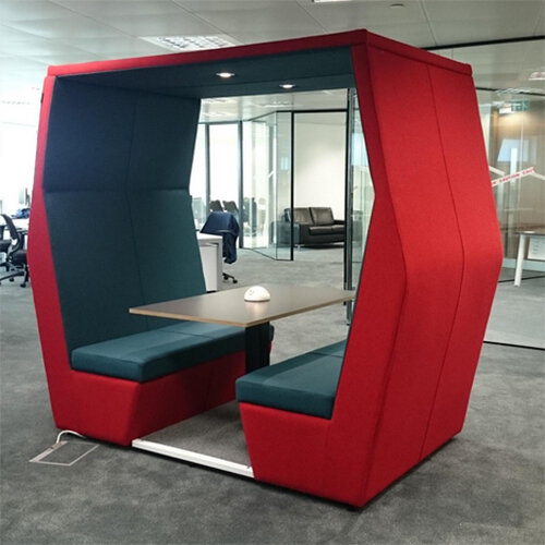 Meeting Pod Bill 4 Seater Red Huntoffice Ie