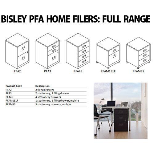 Bisley A4 Mobile Home Filer 2 Drawer Black BY31012