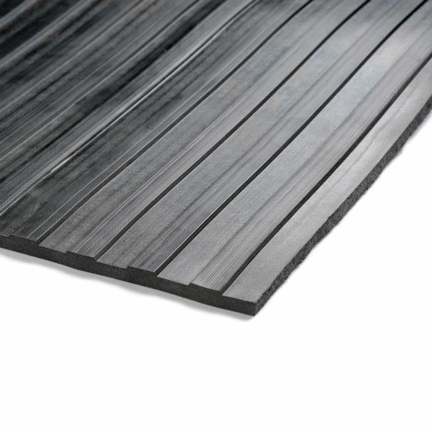 Broad Ribbed Matting 3mm 900mm X1 Linear Metre Black