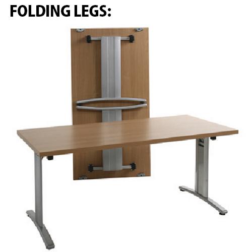 Lightweight Rectangular 1600x800mm Folding Conference Table ...