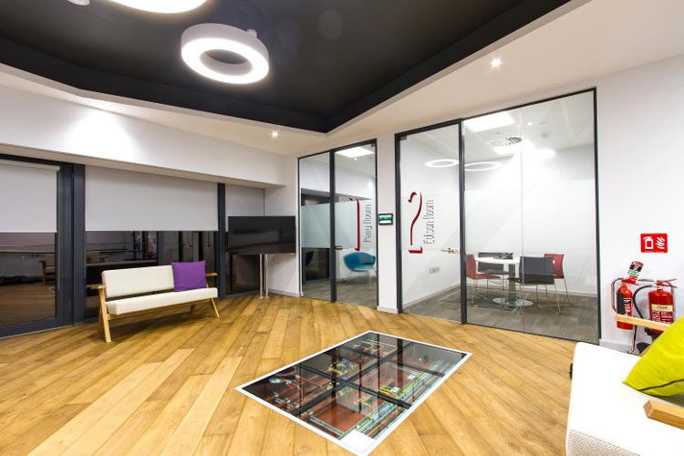 Desinger Group Office Fitout in Dublin by HuntOffice Interiors Reception Area