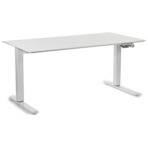Humanscale Float Height Adjustable Sit Stand Desk White