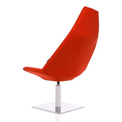 Thunder Designer Reception Lounge Chair Orange Fabric