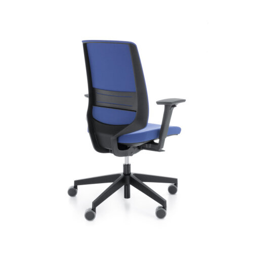 Pleasing Lightup Modern Design Ergonomic Office Chair With Lumbar Support Adjustable Arms Blue Dailytribune Chair Design For Home Dailytribuneorg