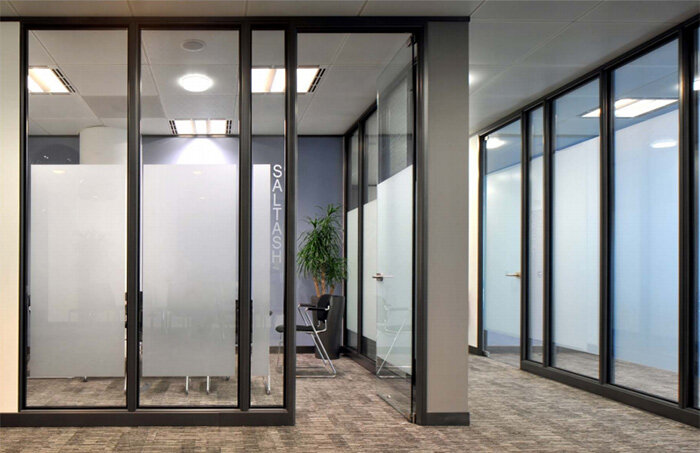 Sas System 4000 Double Glazed Glass Office Partitioning