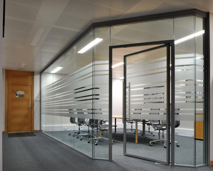 Sas System 8000i Double Glazed Frameless Partitioning