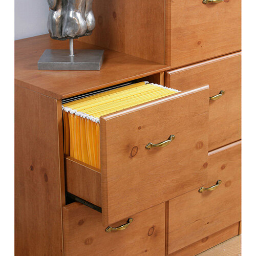 French Gardens Range 2 Drawer Filing Cabinet Antique Pine Effect - French Gardens Range 2 Drawer Filing Cabinet Antique Pine Effect