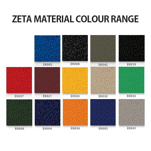 zeta material colour range for Kleiber Thunder chairs