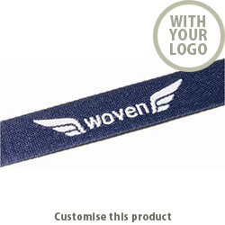 15mm Woven Lanyard (1 layer, 1 colour, 1 side) 002105314 - Customise with your brand, logo or promo text