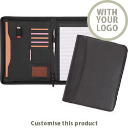 Pembury Zipped Conference Folder 002107662 - Customise with your brand, logo or promo text