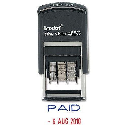 Trodat Printy 4850 Paid Dater Stamp T4850L2