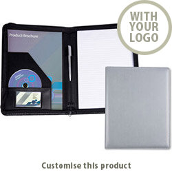 Belluno Pu A4 Zipped Conference Folder 002769 - Customise with your brand, logo or promo text
