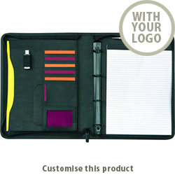 Pembury A4 4 Ring Zipfolio 00289316 - Customise with your brand, logo or promo text