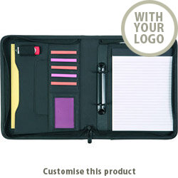 Pembury A5 2 Ring Zipfolio 00289319 - Customise with your brand, logo or promo text