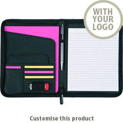 Pembury' A5 Zipfolio 00289321 - Customise with your brand, logo or promo text