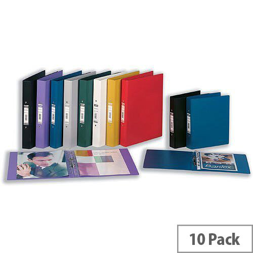 Elba Ring Binder Heavyweight PVC 2 O-Ring Size 25mm A4 Red Ref 400001511 [Pack 10]